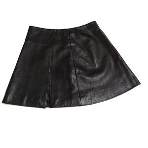 Michael Hoban North Beach Black Leather Mini Skirt